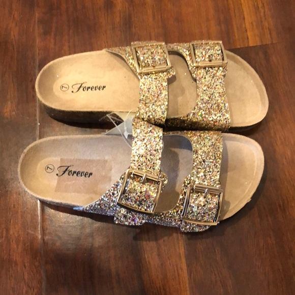 Glittery Birkenstock Style Sandals